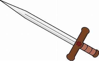 Sword Clipart Double Edged Transparent Fire Line