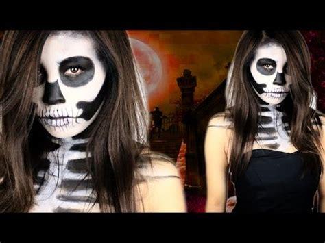 skelett gesicht schminken totenkopf schminken einfach schnell make up by kisu