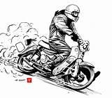 Bike Dirt Doodle Quake Motorcycle Ii Honda Cars Sideburn Poster Magazine Motorrad Kunst Animasi Manga 99seconds Cub Fahrradkunst Finken Aufkleber sketch template