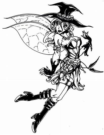 Coloring Pages Princess Disney Gothic Fairy Halloween