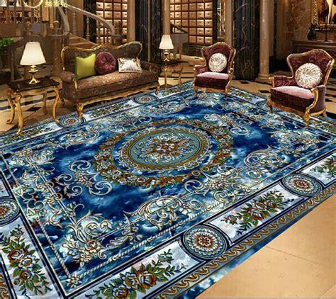europea royal blue wallpaper  floor custom sticker