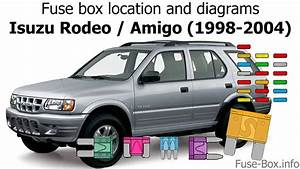 Fuse Box Location And Diagrams  Isuzu Rodeo    Amigo  1998