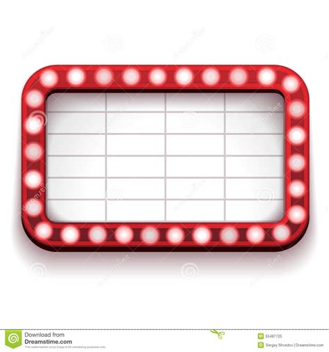 Blank Billboard Clip Art Red red theater sign stock vector illustration 1300 x 1390 · jpeg