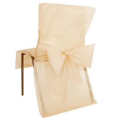 vente housse de chaise mariage vente housse de chaise mariage intiss 233 e avec noeud 233 crue tables 1001 deco table