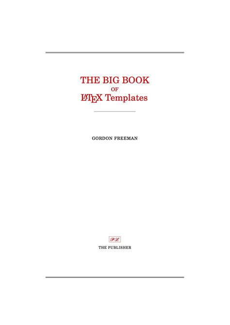 latex templates title pages