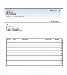 hotel invoice template 8 free sample example format With hotel invoice sample