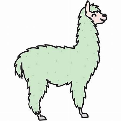 Lama Kawaii Alpaca Stampa Drukken Af Tryck