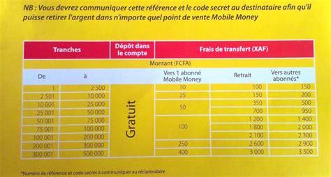 mtn mobile money tarifs transfert d argent mtn mobile money le mobile au