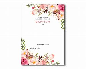 awesome free template free printable baptism floral With wedding invitation no flowers