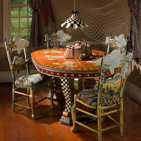 mackenzie childs highland thistle dining table