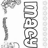 Macy Pages Coloring Hellokids Names sketch template