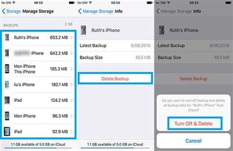 icloud erase iphone how to delete icloud backup