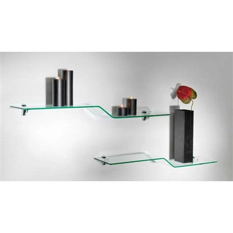 etagere murale en verre tremp 233 table de lit