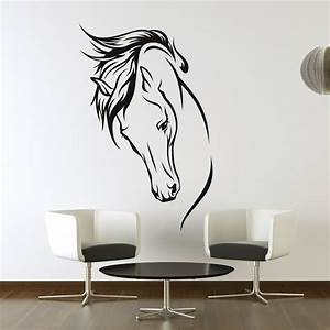 horses head wall art stickers wall decal transfers ebay With wall art stickers