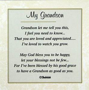happy birthday grandson poems google search relative With letter my first grandson
