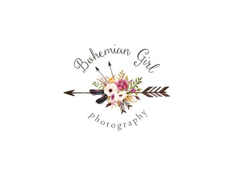 photography logo  watermark premade watercolor flowers