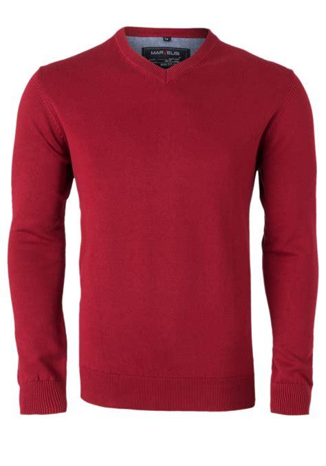 marvelis heren trui  hals rood gratis bezorgd