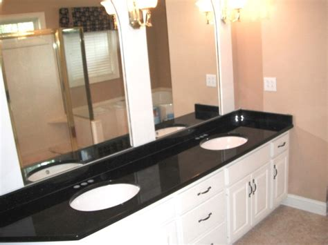 55 Inch Vanity Top by 12 Black Galaxy Granite Colors For White Cabinets