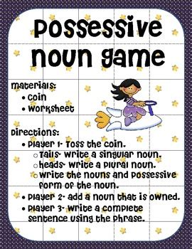 possessive nouns game  ms  grade teachers pay
