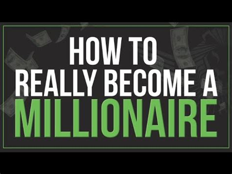 How To Become A Millionaire, Stepbystep Youtube