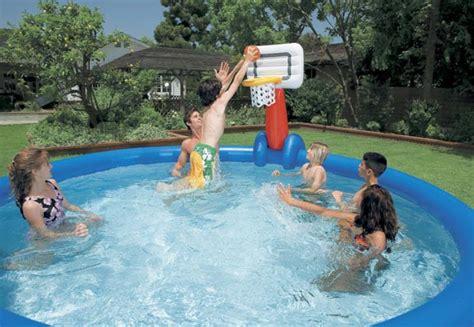 Rete Volleyball E Basketball Con Palla Per Piscine Intex Easy