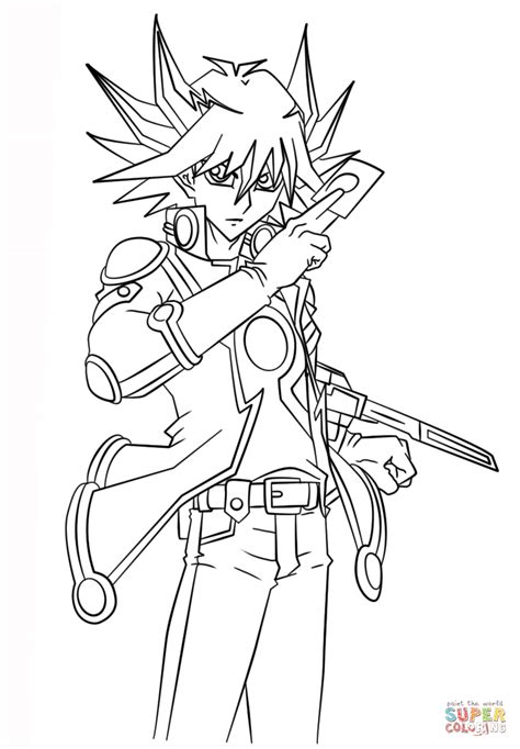 yu gi  ds coloring pages learny kids