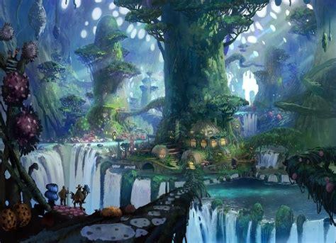 fantasy world background anime background anime scenery