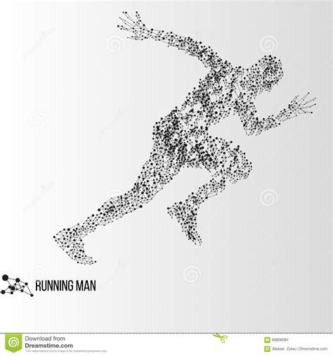 abstract running man stock vector image