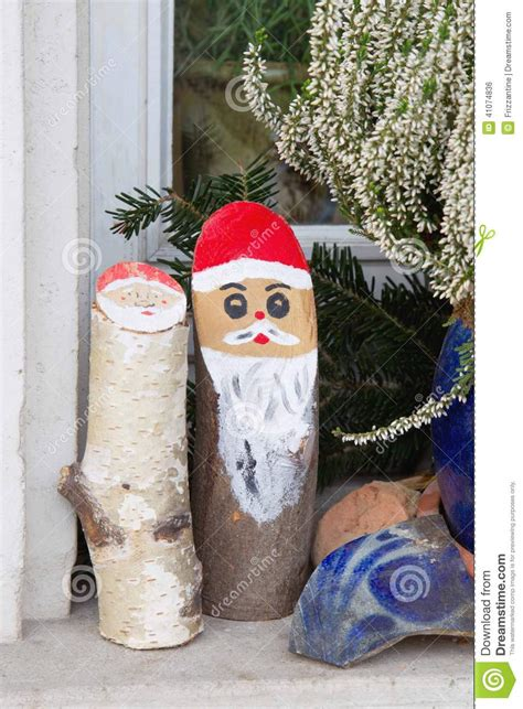 deco de noel lumineuse exterieur outdoor decoration with wood stock photo image 41074836