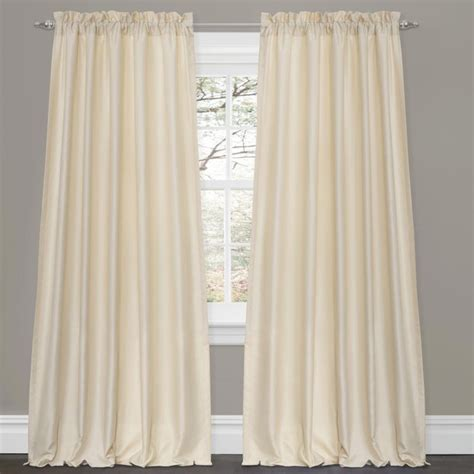 Lush Decor Window Curtains by Lush Decor Lucia Ivory 84 Inch Curtain Panel Pair