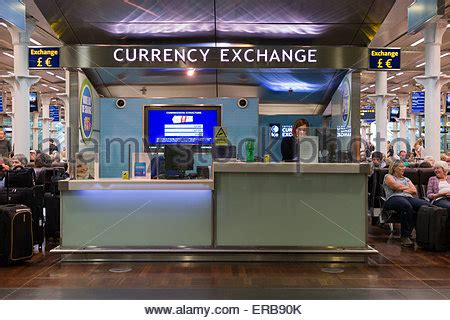 bureau de change crawley currency exchange kiosk in departure lounge terminal 5
