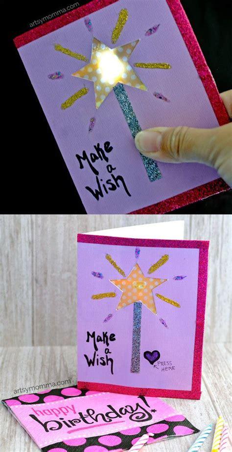light  birthday card featuring