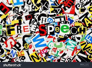 U0026quot Free Speech U0026quot  Written On A Pile Of Colorful Cutout Ransom Note Letters Stock Photo 71266987