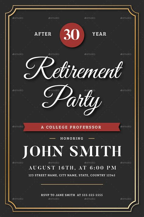 retirement invitation flyer templates  vynetta