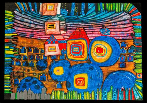 buy hundertwasser postcard windows home