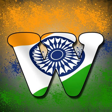 Alphabet Tiranga Image  Letter Name Tiranga Images For
