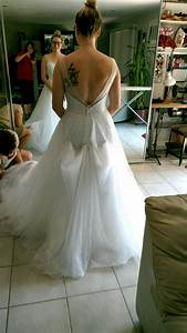 bustle on tulle dress show me yours weddingbee With bustle tulle wedding dress