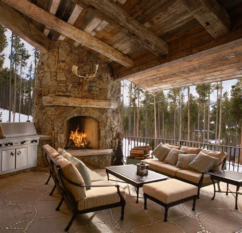 pictures of outdoor living spaces with fireplace outdoor living spaces with fireplace patio rustic with antlers bar beige outdoor
