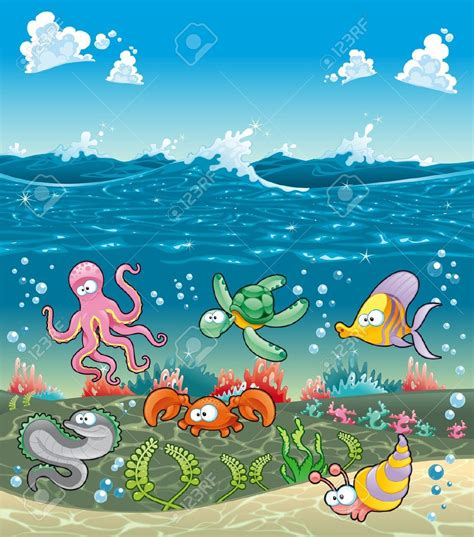 Sea Clipart Sea Stock Vector Illustration And Royalty Free