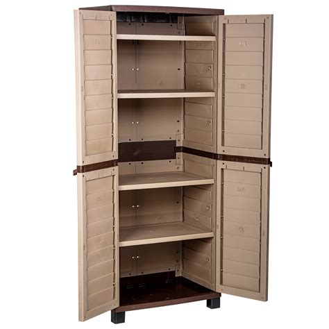 Utility Shelves by Starplast Outdoor Plastic Garden Utility Cabinet With 4