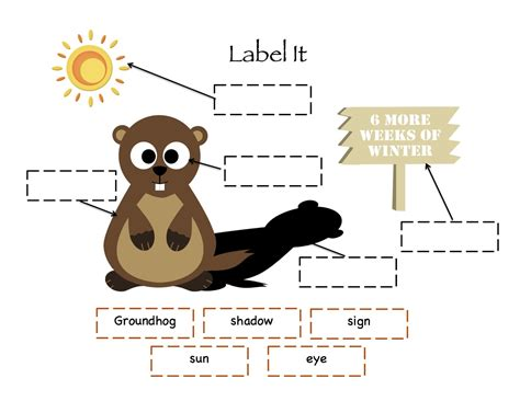 day groundhog printable worksheets search results