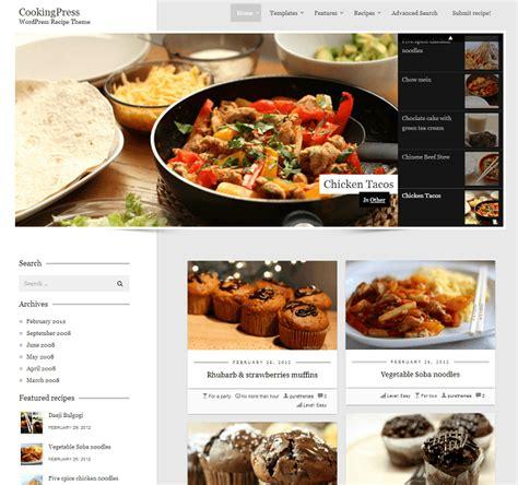 site cuisine 14 thèmes pour votre site de recettes de cuisine