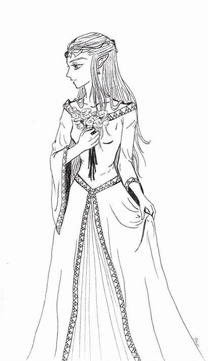 Coloring Zelda Princess Pages Formal Adult Legend