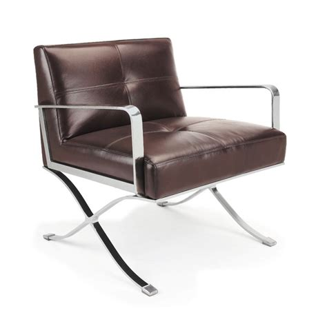 ec 011 modern leather lounge chair