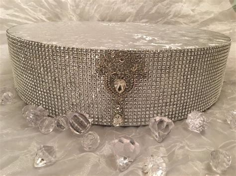 cake stand vintage 14 quot 16 quot 18 quot rhinestone silver or gold