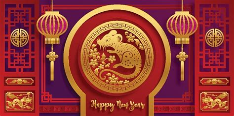 chinese year year rat paper rat