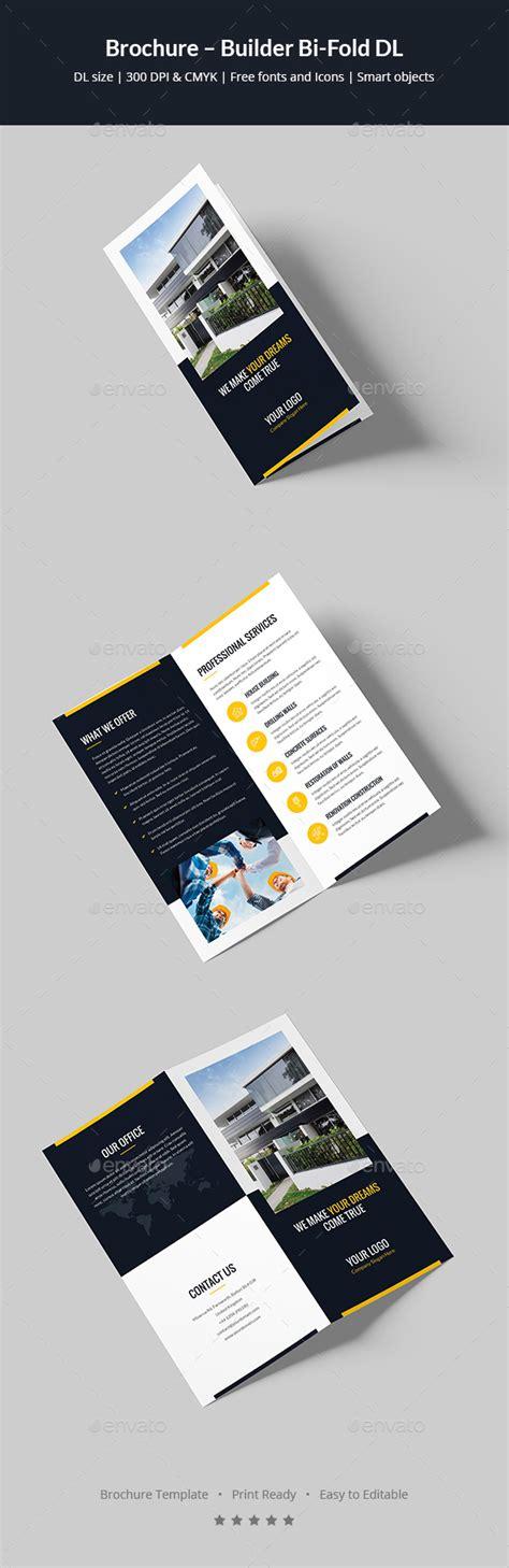 Dl Brochure Template by Brochure Builder Bi Fold Dl By Artbart Graphicriver