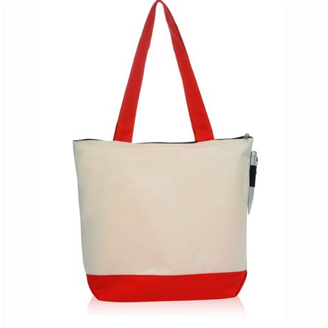custom zipper polyester tote bags tot discountmugs