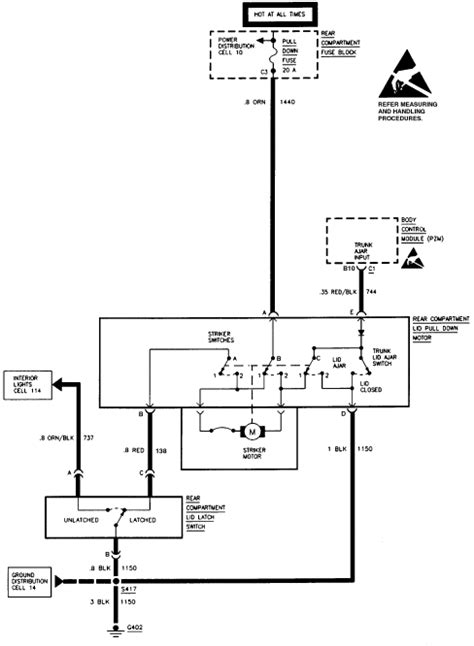 85 Cadillac Wiring Diagram by Cadillac Trunk Pull Will Not Retract