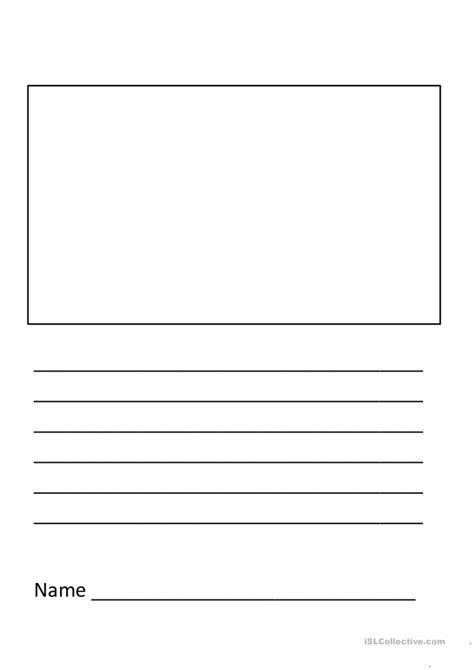 elementary writing template worksheet free esl printable